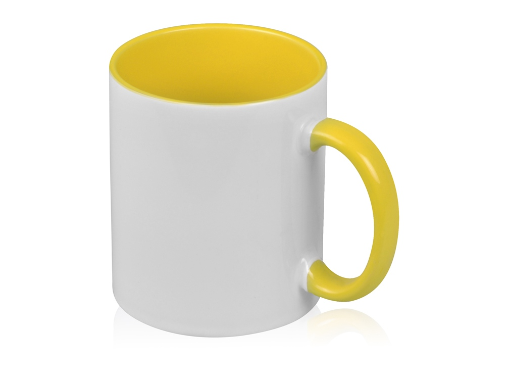 Кружка для сублимации Sublime Color, белый/желтый