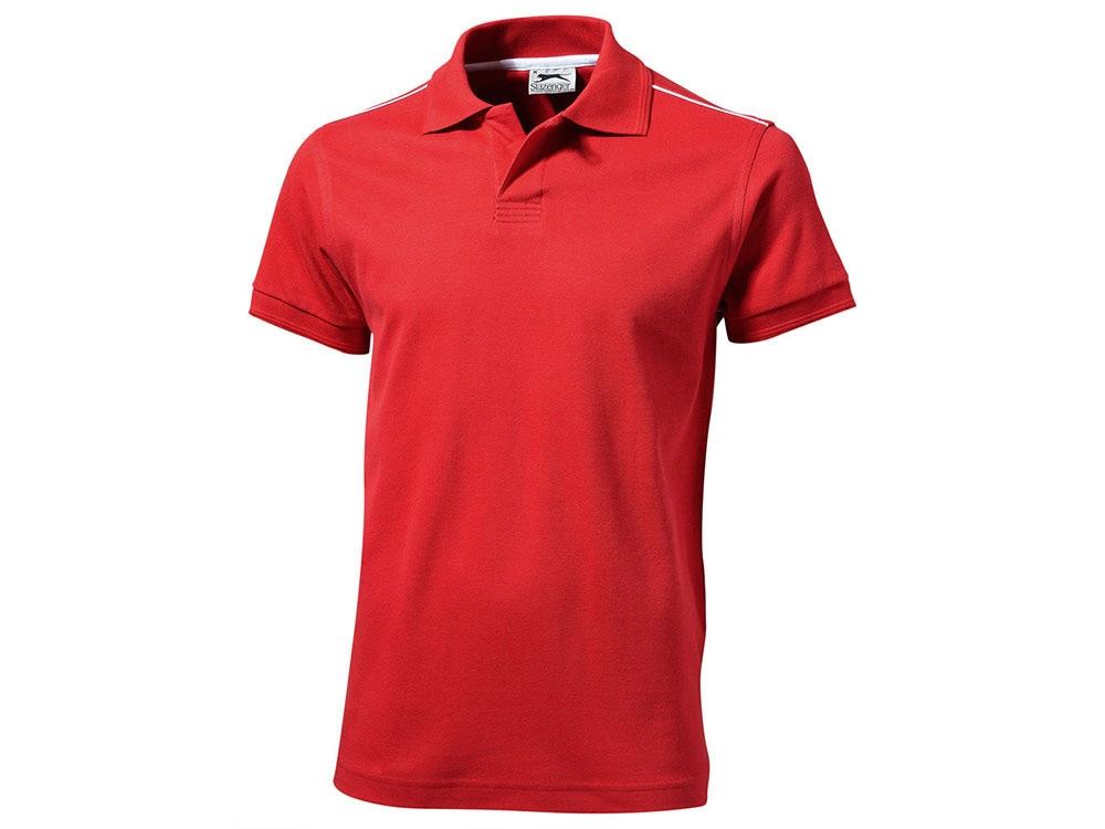Рубашка поло Backhand мужская, красный/белый