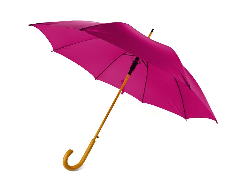 Зонт-трость Радуга, фуксия