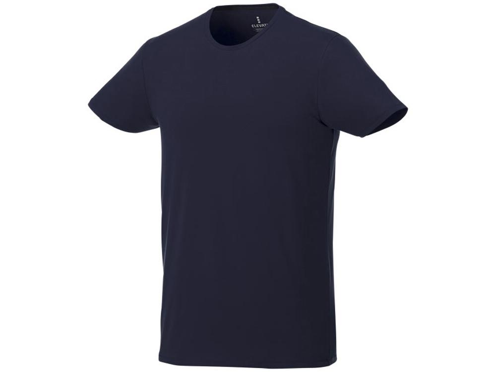 Мужская футболка Balfour с коротким рукавом из органического материала, темно-синий