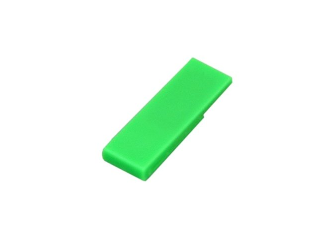 Флешка промо в виде скрепки, 64 Гб, зеленый