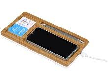Беспроводное зарядное устройство-органайзер из бамбука «Timber» (арт. 590968), фото 2