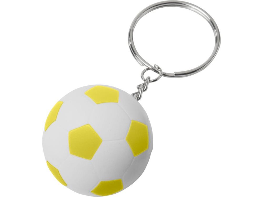 Футбольный брелок Striker, белый/желтый