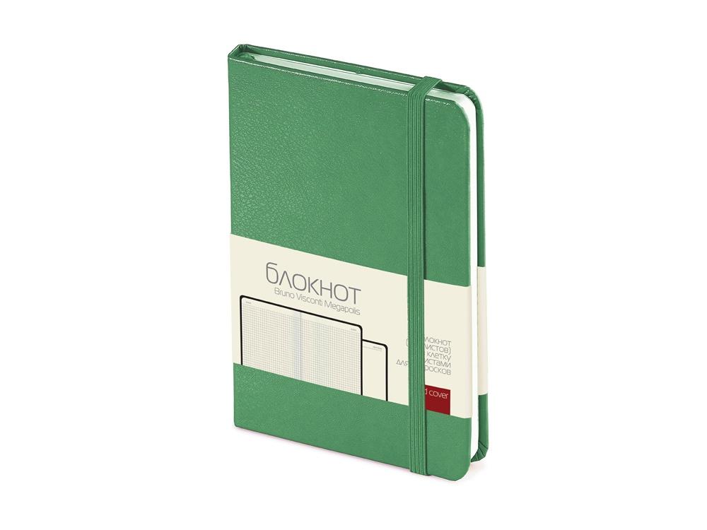Блокнот А6 Megapolis Journal, зеленый