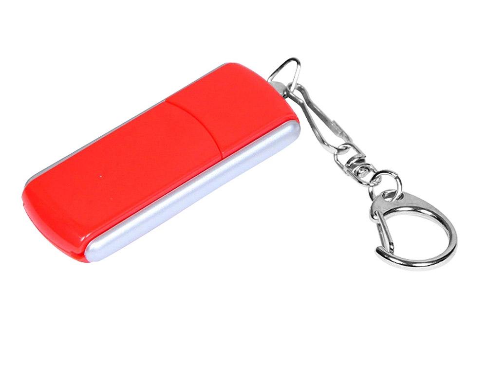 Флешка промо прямоугольной формы, выдвижной механизм, 64 Гб, красный