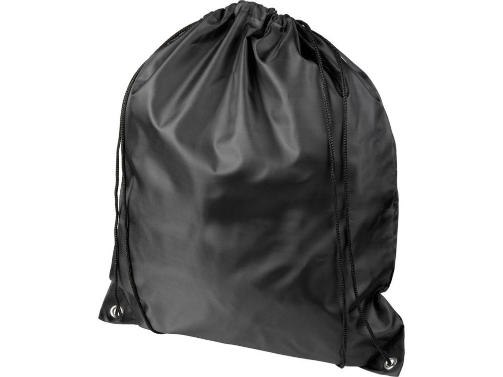 Рюкзак со шнурком Oriole из переработанного ПЭТ, черный