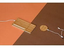 Беспроводное зарядное устройство-органайзер из бамбука «Timber» (арт. 590968), фото 7
