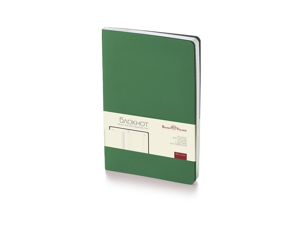 Блокнот А5 Megapolis Flex soft-touch, темно-зеленый