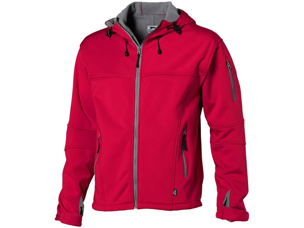 Куртка софтшел Match мужская, красный/серый