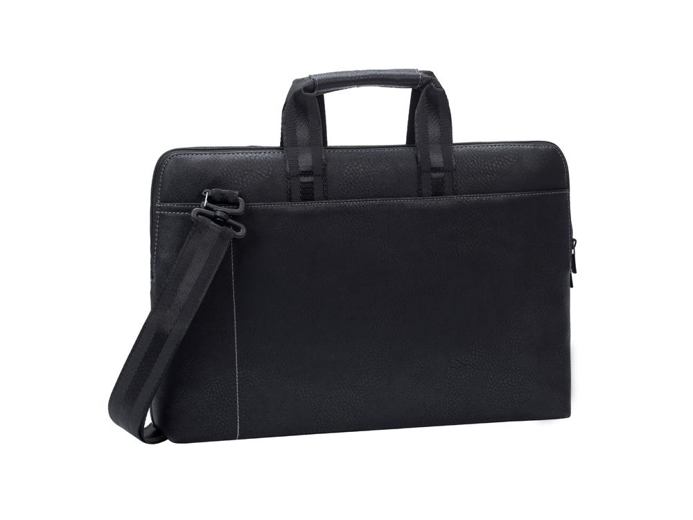 Сумка для ноутбука 15.6 из кожзама 8930, черный
