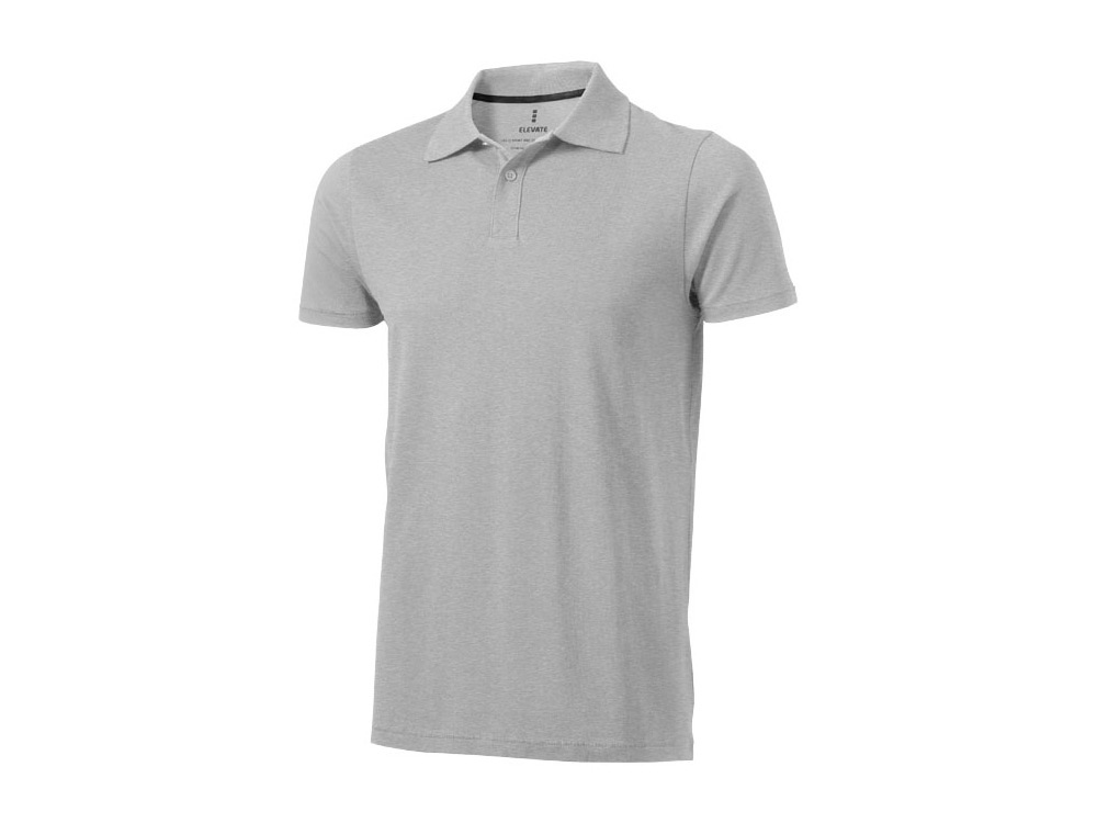 Рубашка поло Seller мужская, серый меланж