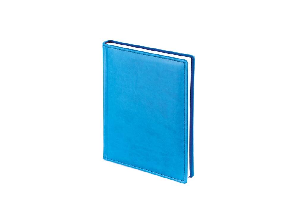 Ежедневник недатированный А6+ Velvet, синий флуор