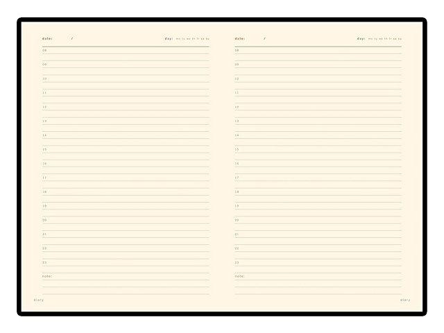 Ежедневник А5 недатированный «Prestige», темно-коричневый