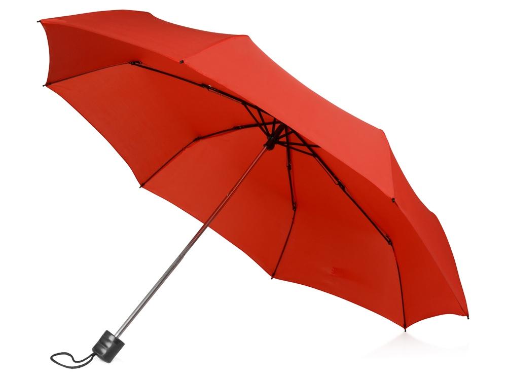 Зонт складной Columbus, механический, 3 сложения, с чехлом, красный