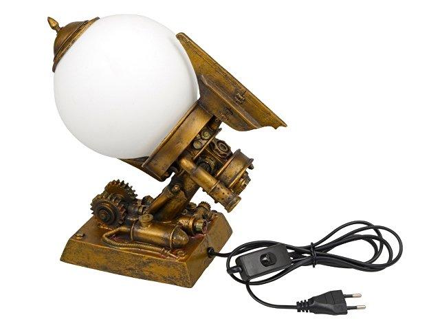 Лампа настольная, бронзовый/белый
