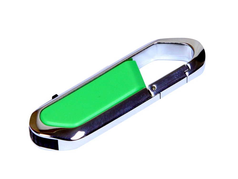 Флешка в виде карабина, 16 Гб, зеленый/серебристый
