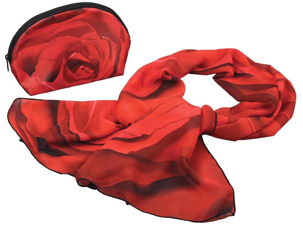 Набор Роза: косметичка и шарф