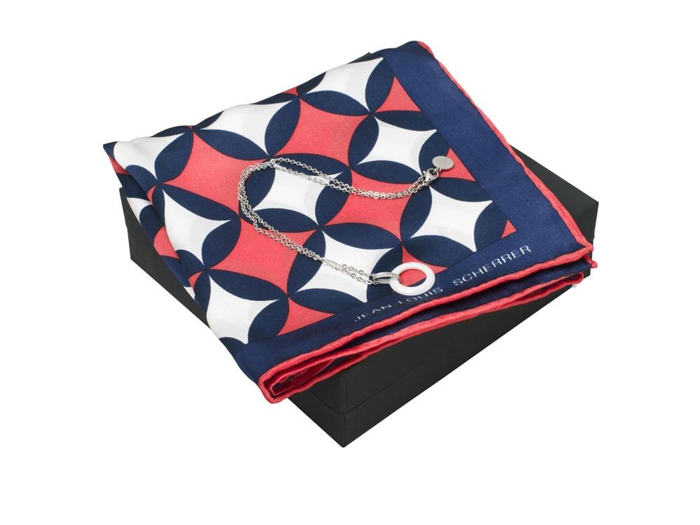 Набор: шелковый платок, колье