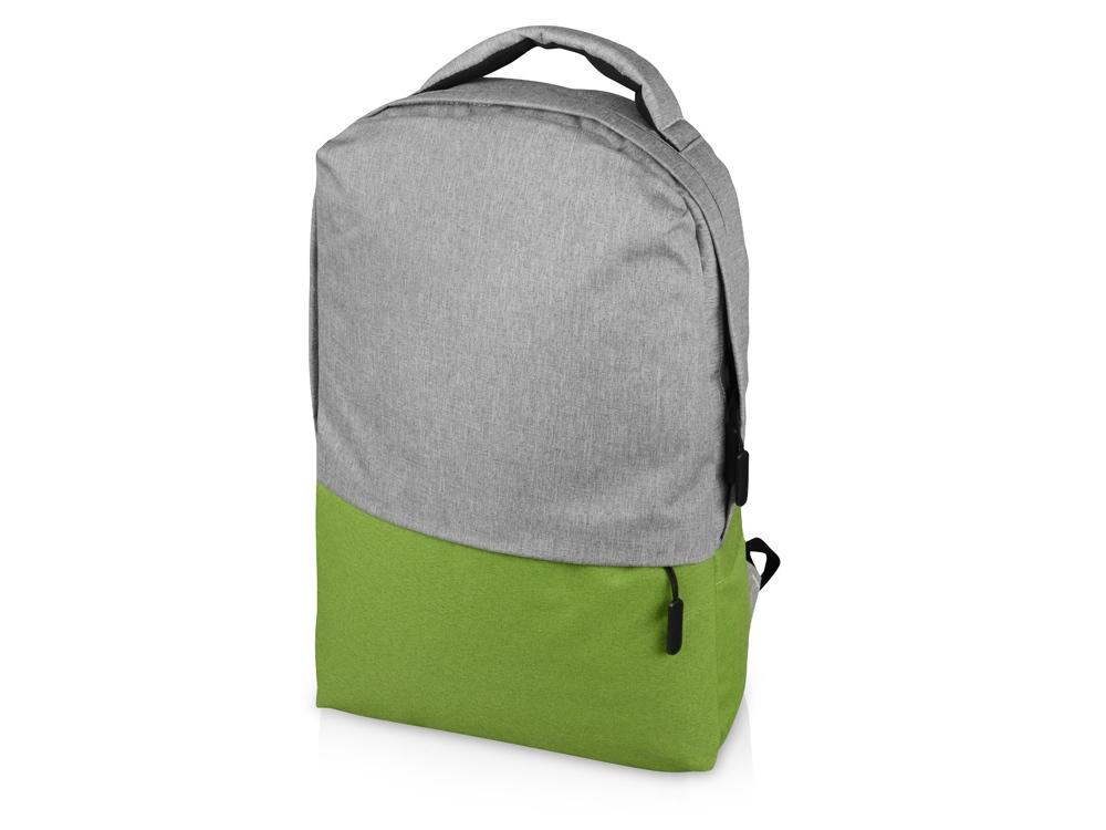 Рюкзак Fiji с отделением для ноутбука, серый/зеленое яблоко