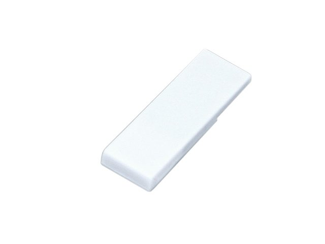 Флешка промо в виде скрепки, 64 Гб, белый