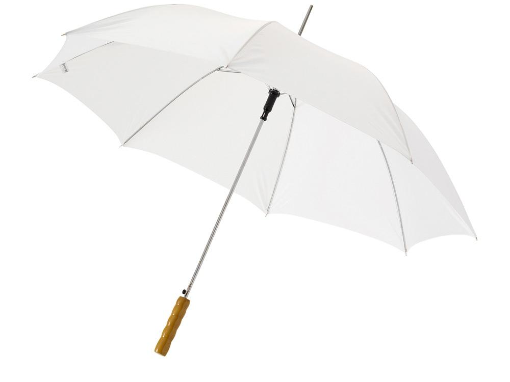 Зонт-трость Lisa полуавтомат 23, белый