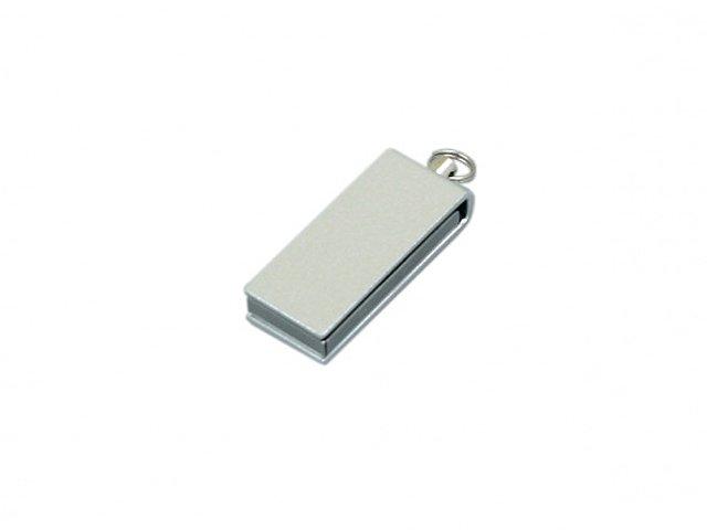 Флешка с мини чипом, минимальный размер, цветной  корпус, 32 Гб, серебристый