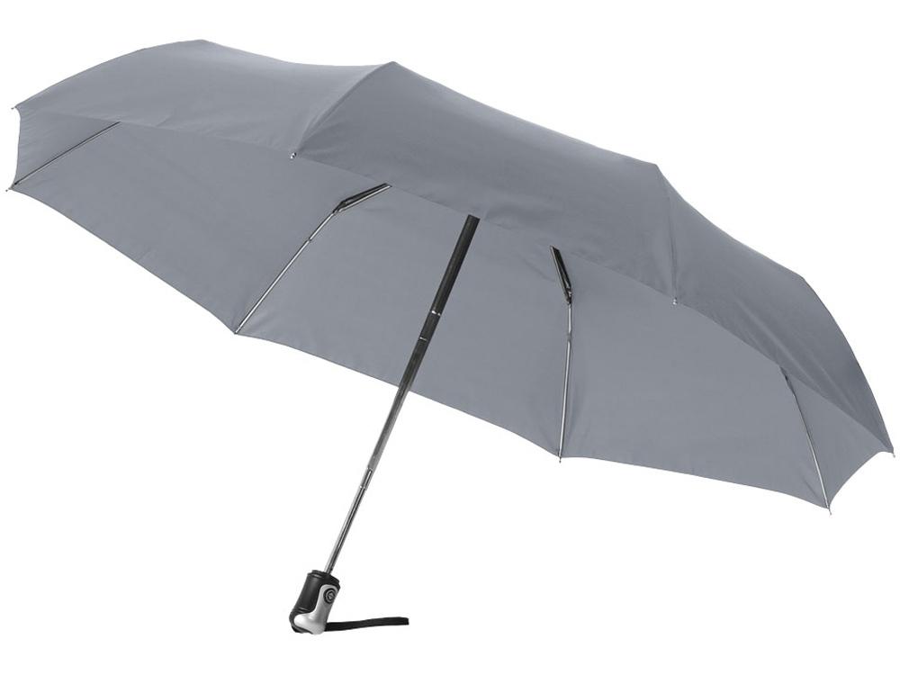 Зонт Alex трехсекционный автоматический 21,5, серый