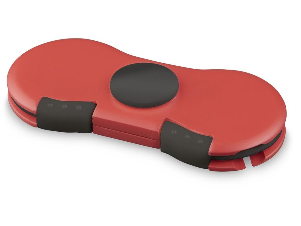 Спиннер с зарядными кабелями, красный