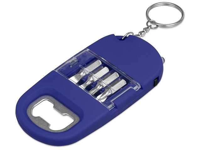 Брелок-открывалка с отвертками и фонариком «Uni» софт-тач