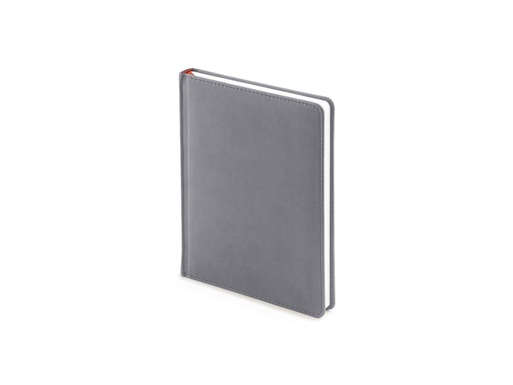 Ежедневник недатированный А6+ Velvet, светло-серый