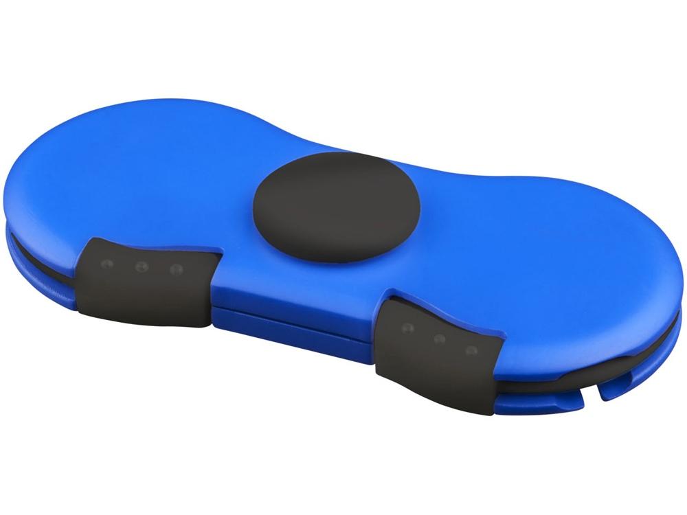 Спиннер с зарядными кабелями, ярко-синий