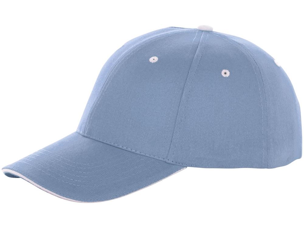 Бейсболка Brent, сэндвич, 6 панелей, светло-синий