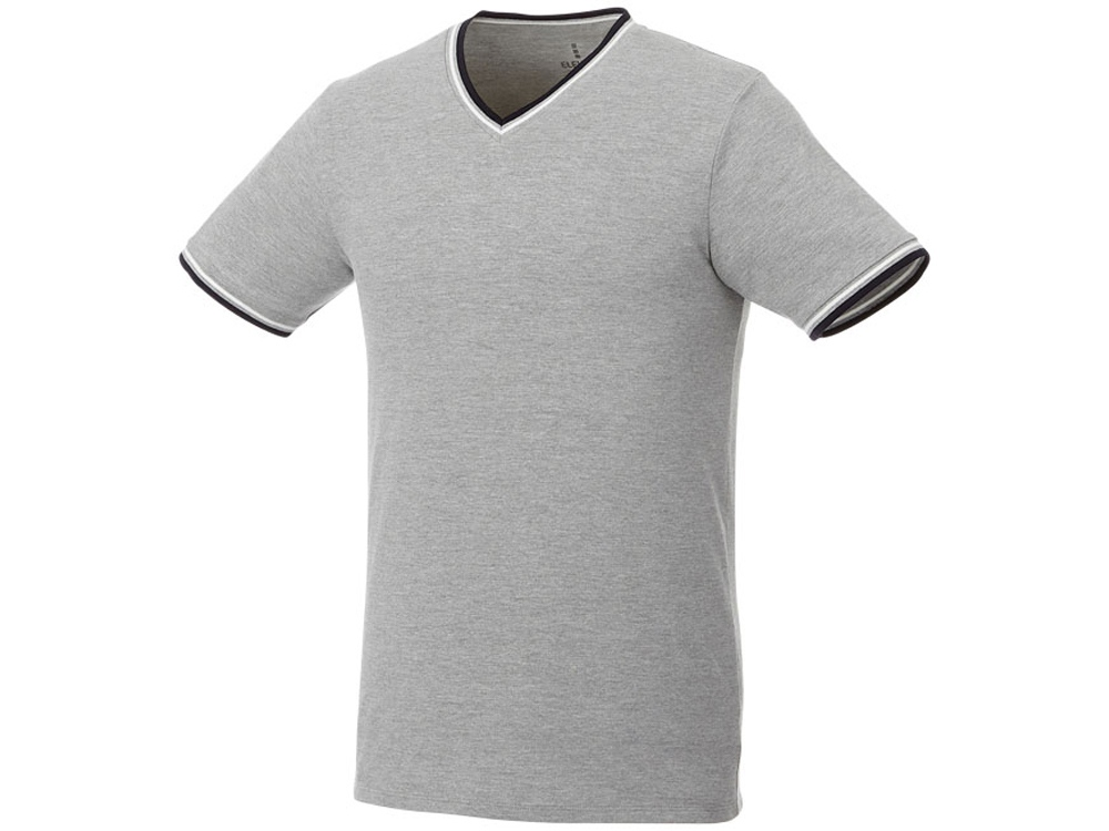 Мужская футболка Elbert с коротким рукавом, серый меланж/темно-синий/белый