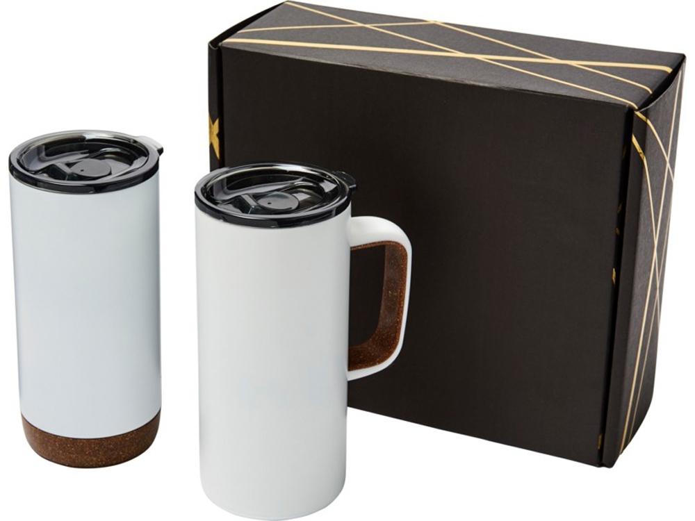 Подарочный набор Valhalla из медной вакуумной кружки и термокружки, белый