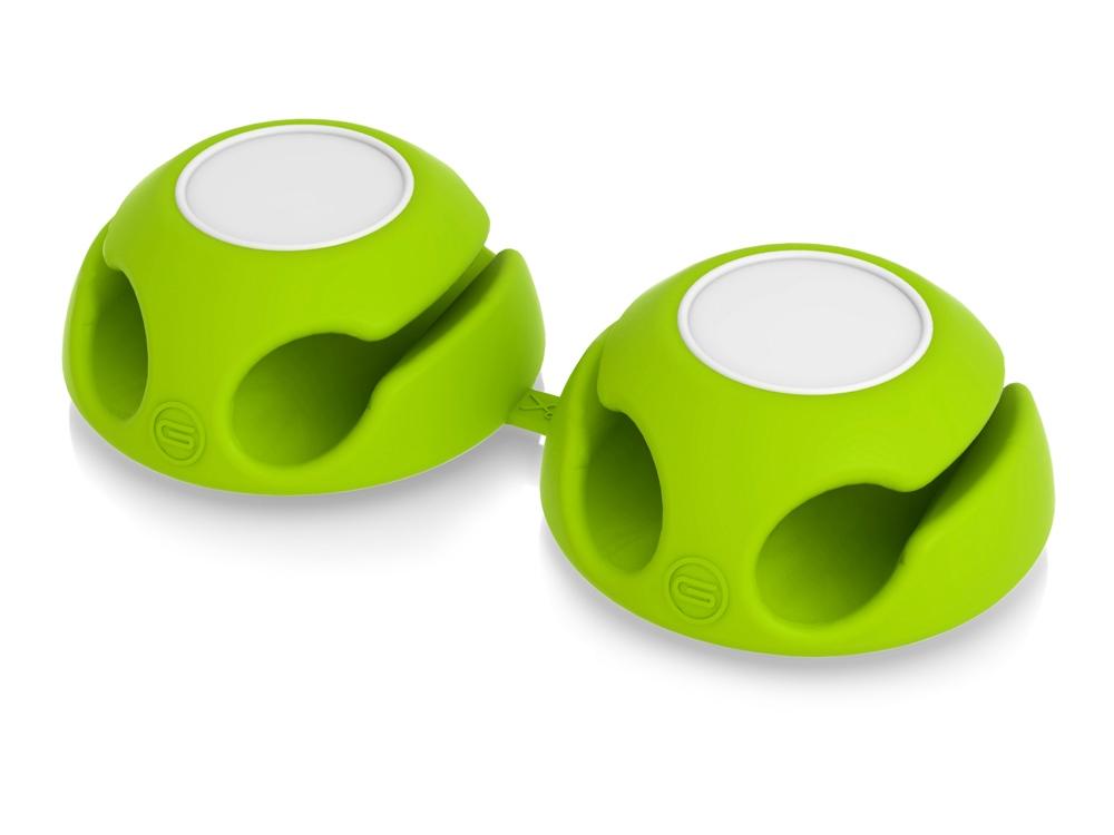 Подставка для кабеля Clippi, зеленое яблоко (2 шт.)