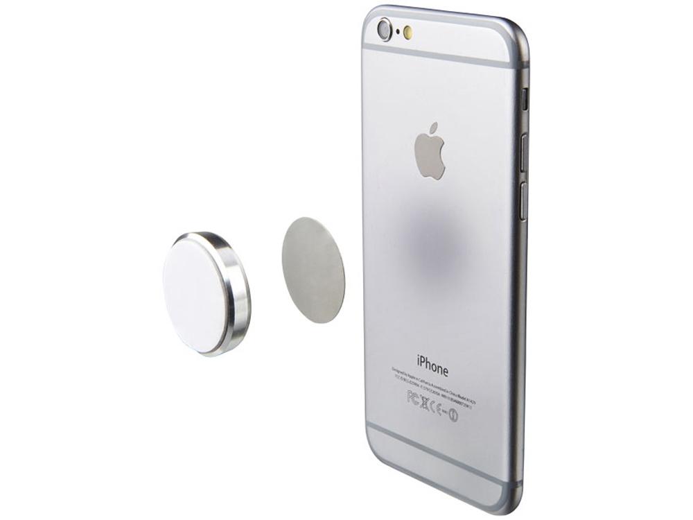 Магнит для телефона с клейкой подложкой, серый