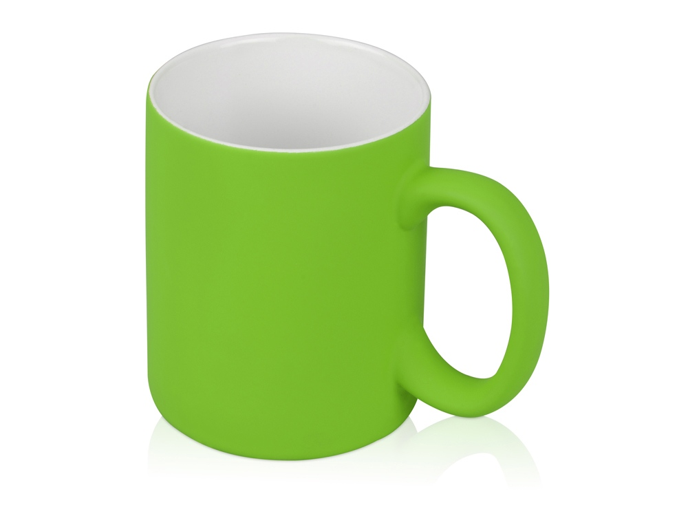 Кружка с покрытием soft-touch Barrel of a Gum, зеленое яблоко
