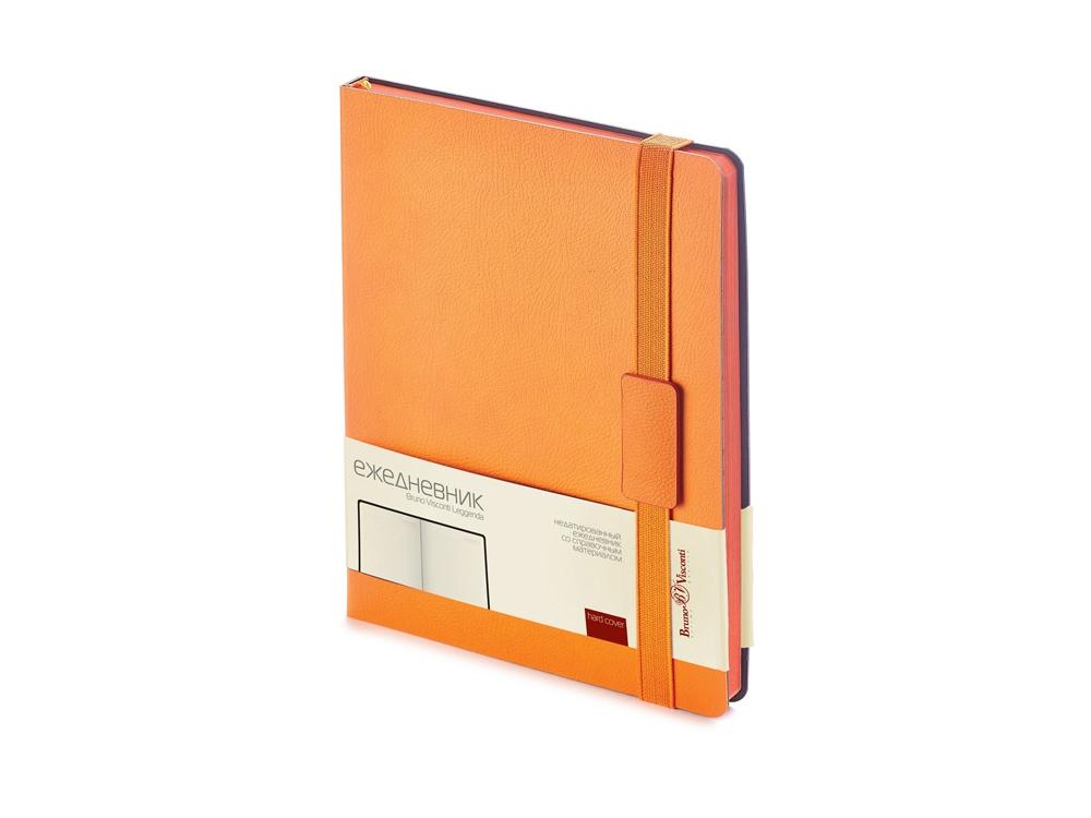 Ежедневник В5 недатированный Leggenda, оранжевый
