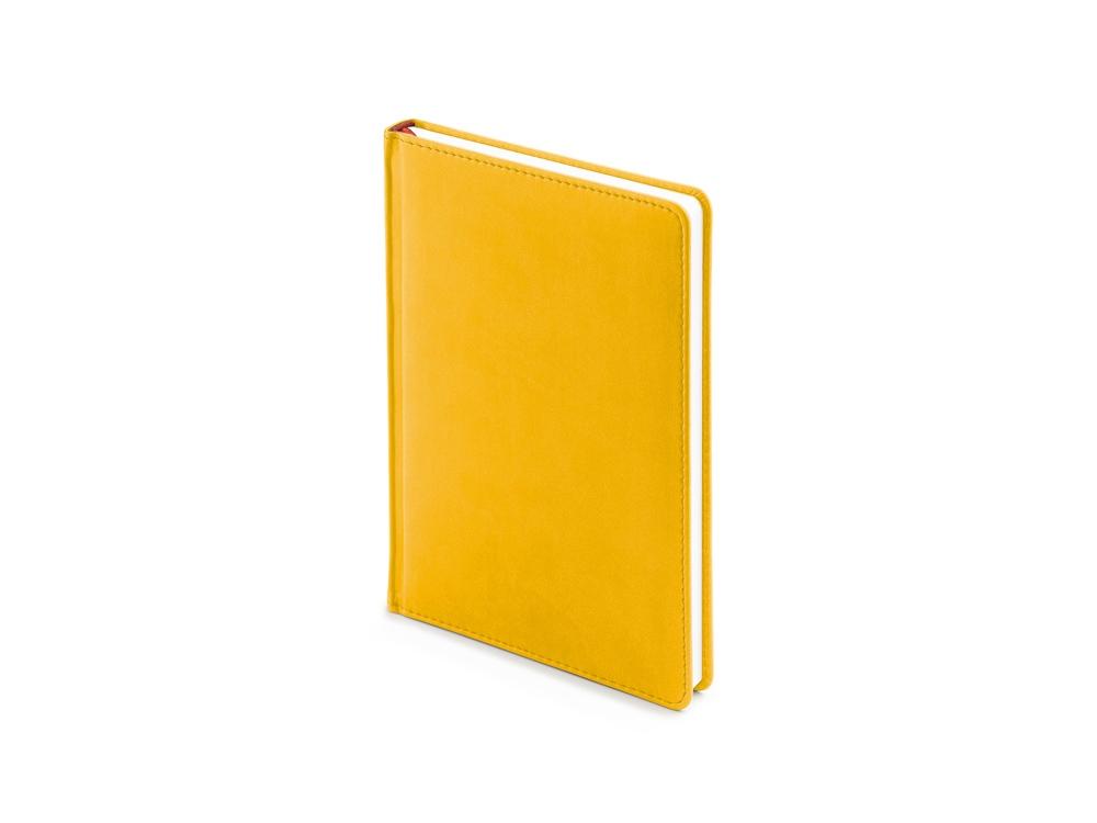 Ежедневник недатированный А5 Velvet, желтый охра