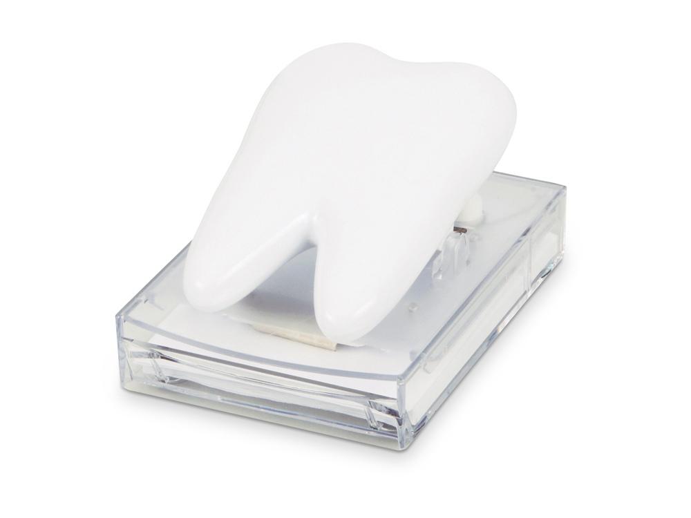 Диспенсер с блоком для записей Дантист, белый
