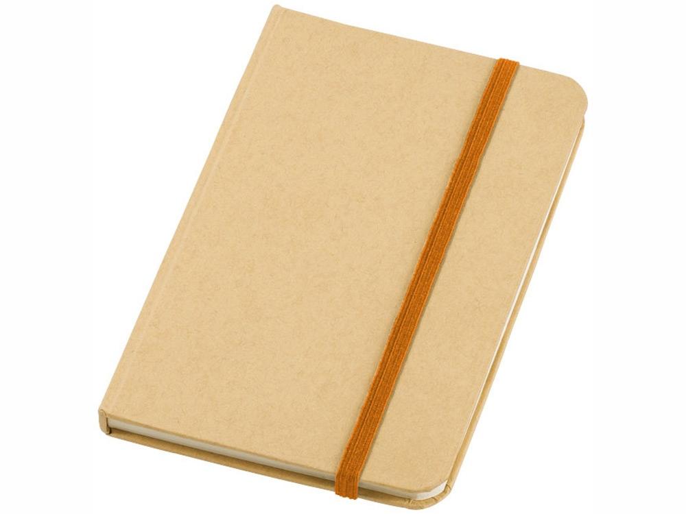 Блокнот А6 Dictum, бежевый/оранжевый