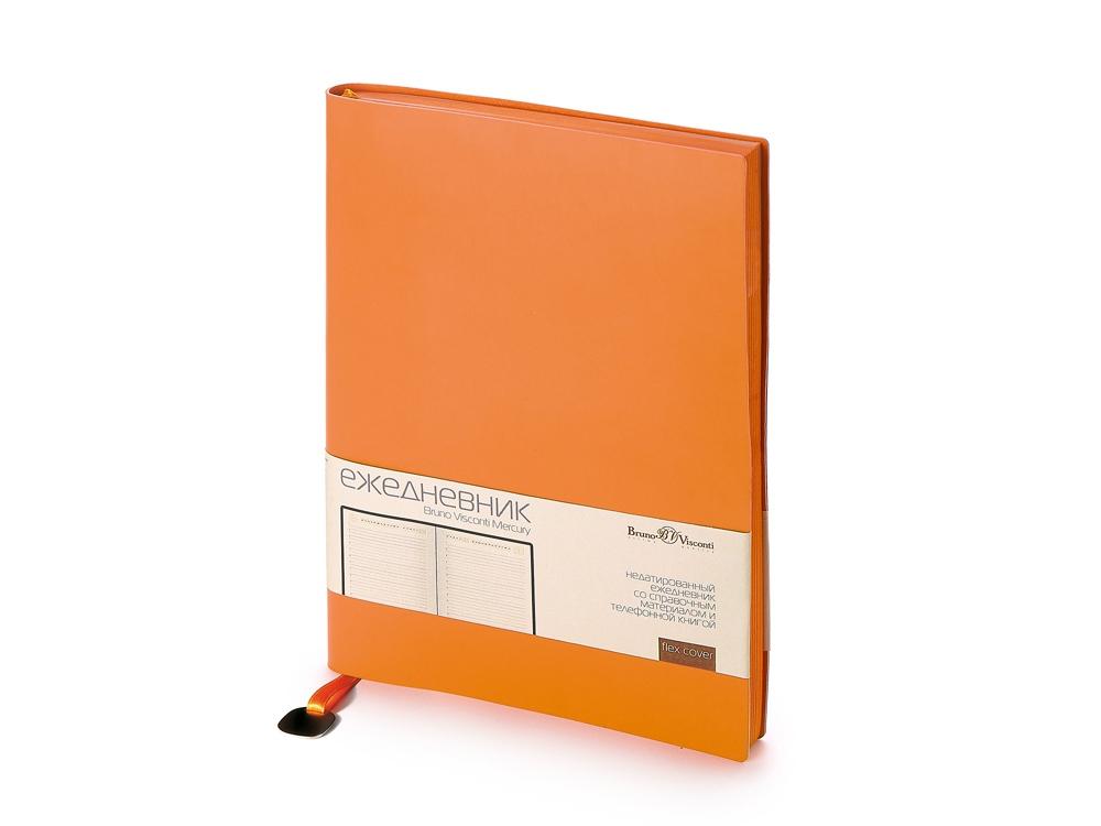 Ежедневник А5 недатированный Mercury, оранжевый