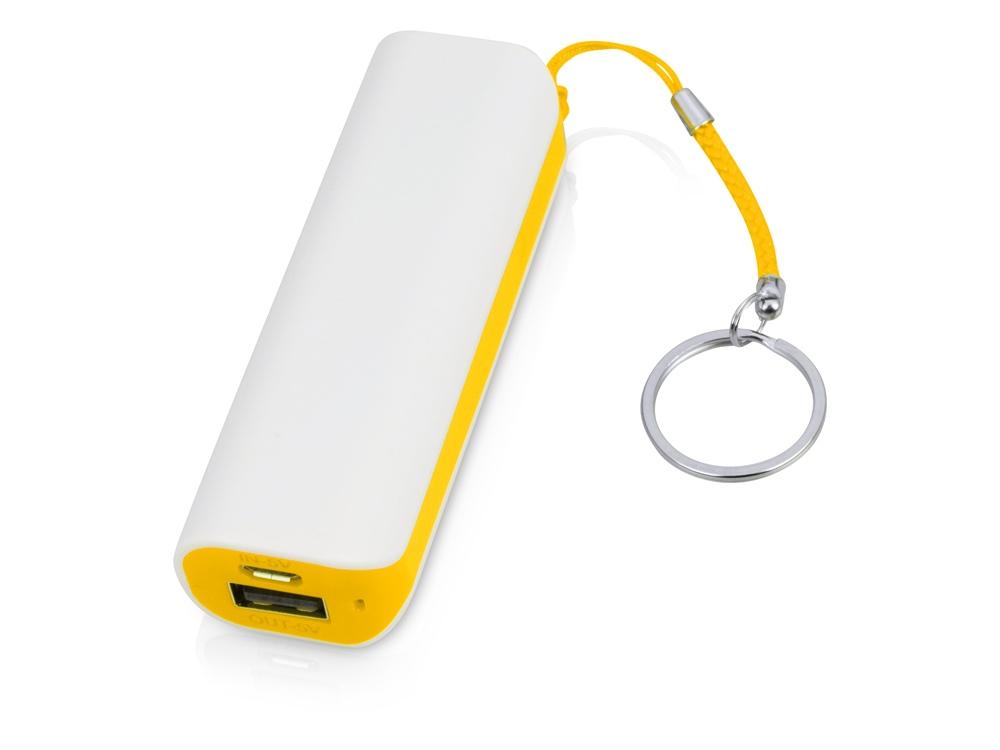 Портативное зарядное устройство (power bank) Basis, 2000 mAh, белый/желтый