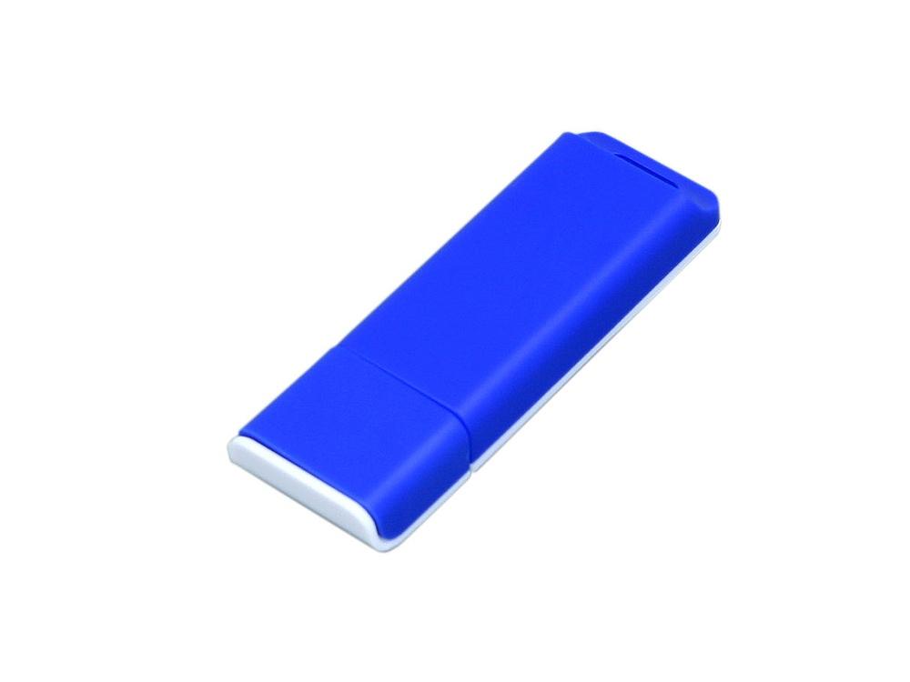 Флешка прямоугольной формы, оригинальный дизайн, двухцветный корпус, 64 Гб, синий/белый