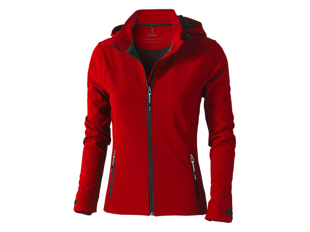 Куртка софтшел Langley женская, красный