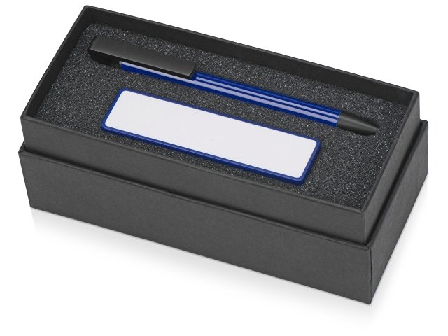 Подарочный набор Kepler с ручкой-подставкой и зарядным устройством, синий