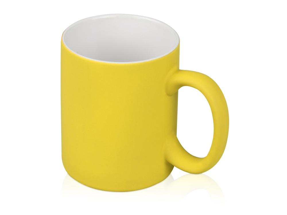 Кружка с покрытием soft-touch Barrel of a Gum, желтый