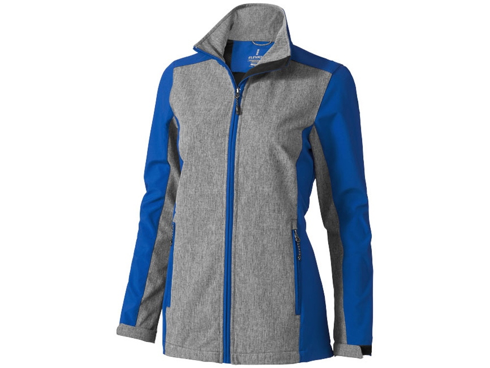 Куртка софтшел Vesper женская, синий/темно-серый