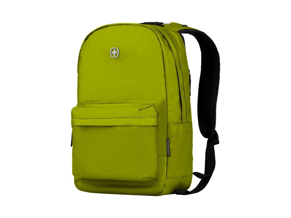 Рюкзак WENGER 18 л с отделением для ноутбука 14'' и с водоотталкивающим покрытием, салатовый