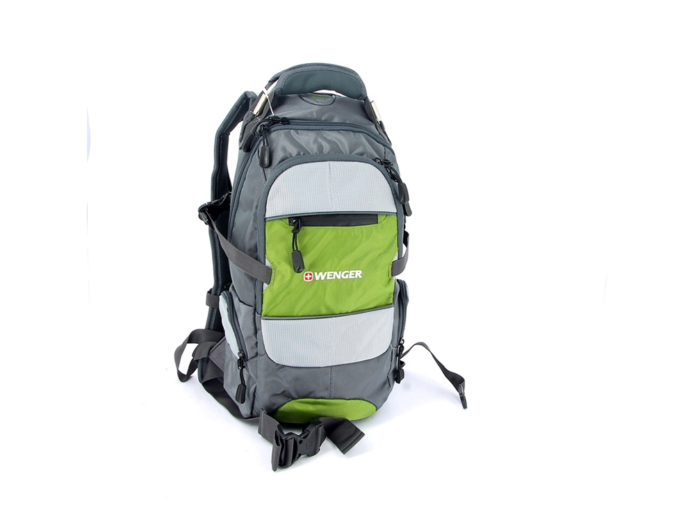 Рюкзак 22л. Wenger, серый/зеленый/серебристый